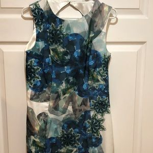 H&M Dress, Blue/Green Diamond Print, Size 10
